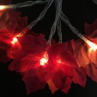 abordables Tiras de Luces LED-3M Cuerdas de Luces 20 LED Naranja Decorativa Pilas AA alimentadas 1 juego