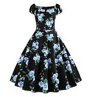 cheap -Women's Daily Basic Maxi Slim Sheath Dress High Waist U Neck Blue XXL XXXL XXXXL