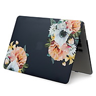 cheap -For MacBook Pro Air 11-15 Computer Case 2018 2017 2016 Released A1989 / A1706 / A1708 With Touch Strip PVC Pattern Hard Shell Black Flower