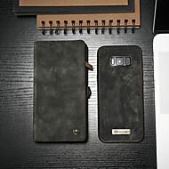 Недорогие Чехлы и кейсы для Galaxy S-CaseMe Кейс для Назначение SSamsung Galaxy S8 Кошелек / Бумажник для карт / со стендом Чехол Однотонный Твердый Кожа PU для S8