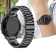Недорогие Часы для Samsung-Ремешок для часов для Gear Sport / Gear S2 / Gear S2 Classic Samsung Galaxy Спортивный ремешок Нержавеющая сталь Повязка на запястье
