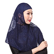 Недорогие Шарфы и шали-Жен. Классический Хиджаб - Кружева Однотонный