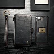 Недорогие Кейсы для iPhone 8-CaseMe Кейс для Назначение Apple iPhone 8 / iPhone 7 Кошелек / Бумажник для карт / Флип Чехол Однотонный Твердый Кожа PU для iPhone 8 / iPhone 7