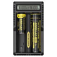 お買い得  -Nitecore UM20 Battery Charger のために リチウムイオン Smart, USB, LCD, 回路検出, 回路保護 18650,18490,18350,17670,17500,16340(RCR123), 14500,10440