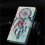 Недорогие Чехлы и кейсы для Galaxy Note 8-Кейс для Назначение SSamsung Galaxy Note 9 / Note 8 Кошелек / Бумажник для карт / со стендом Чехол Ловец снов Твердый Кожа PU для Note 9 / Note 8