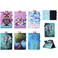 preiswerte Handyhüllen-Hülle Für Huawei MediaPad T3 7.0 / MediaPad T3 10(AGS-W09, AGS-L09, AGS-L03) Kreditkartenfächer / mit Halterung / Flipbare Hülle Ganzkörper-Gehäuse Schmetterling / Eule / Elefant Hart PU-Leder für