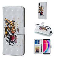 preiswerte Handyhüllen-Hülle Für Huawei P20 Pro / P20 lite Geldbeutel / Kreditkartenfächer / mit Halterung Ganzkörper-Gehäuse Tier Hart PU-Leder für Huawei P20 Pro / Huawei P20 lite / P10 Lite