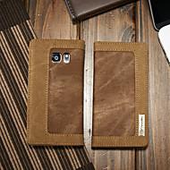 Недорогие Чехлы и кейсы для Galaxy S-CaseMe Кейс для Назначение SSamsung Galaxy S7 Кошелек / Бумажник для карт / со стендом Чехол Однотонный Твердый текстильный для S7