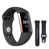 Watch Band for Fitbit Charge 3 Fitbit Sport Band / Classic Buckle Silicone Wrist Strap
