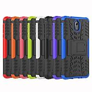 お買い得  携帯電話ケース-ケース 用途 Nokia Nokia 6 2018 / Nokia 3.1 耐衝撃 / スタンド付き バックカバー タイル柄 / 鎧 ハード PC のために Nokia 8 / Nokia 6 / Nokia 6 2018