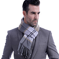 cheap -Men's Work / Basic Rectangle Scarf - Striped / Color Block Pleated / Fall / Winter