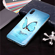 abordables Coques pour iPhone XR-Coque Pour Apple iPhone XR / iPhone XS Max Phosphorescent / Motif Coque Papillon Flexible TPU pour iPhone XS / iPhone XR / iPhone XS Max