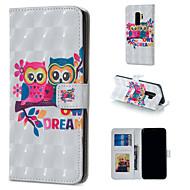 Недорогие Чехлы и кейсы для Galaxy S-Кейс для Назначение SSamsung Galaxy S9 Plus / S9 Кошелек / Бумажник для карт / со стендом Чехол Сова Твердый Кожа PU для S9 / S9 Plus / S8 Plus