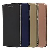 お買い得  携帯電話ケース-ケース 用途 Motorola MOTO G6 / Moto G6 Plus カードホルダー / スタンド付き / フリップ フルボディーケース ソリッド ハード PUレザー のために MOTO G6 / Moto G6 Plus / Moto G5s Plus