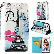 preiswerte Handyhüllen-Hülle Für Xiaomi Redmi 4a Geldbeutel / Kreditkartenfächer / Flipbare Hülle Ganzkörper-Gehäuse Eiffelturm Hart PU-Leder für Xiaomi Redmi 4A