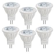 お買い得  LED スポットライト-6本 4 W 350 lm MR11 LEDスポットライト MR11 4 LEDビーズ SMD 2835 温白色 / クールホワイト 12 V