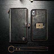 voordelige iPhone XR hoesjes-CaseMe hoesje Voor Apple iPhone XR Portemonnee / Kaarthouder / Flip Volledig hoesje Effen Hard PU-nahka voor iPhone XR