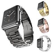 צפו בנד ל Apple Watch Series 4/3/2/1 Apple רצועת ספורט מתכת אל חלד רצועת יד לספורט