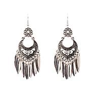 Damen Schick Tropfen-Ohrringe Ohrringe Retro Schmuck Silber Für Party Alltag 1 Paar