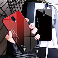 お買い得  携帯電話ケース-ケース 用途 OnePlus OnePlus 6 / One Plus 6T ミラー バックカバー カラーグラデーション ハード 強化ガラス のために OnePlus 6 / One Plus 6T / One Plus 5