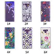 Недорогие Чехлы и кейсы для Galaxy Note 8-Кейс для Назначение SSamsung Galaxy Note 9 / Note 8 С узором Кейс на заднюю панель Цветы Мягкий ТПУ для Note 9 / Note 8