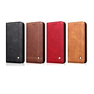 cheap Samsung Accessories-Case For Samsung Galaxy S9 Plus / S8 Plus Wallet / Card Holder / with Stand Full Body Cases Solid Colored / Tile Hard PU Leather for S9 / S9 Plus / S8 Plus