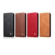 Недорогие Чехлы и кейсы для Galaxy S7-Кейс для Назначение SSamsung Galaxy S9 Plus / S8 Plus Кошелек / Бумажник для карт / со стендом Чехол Однотонный / Плитка Твердый Кожа PU для S9 / S9 Plus / S8 Plus