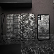 WHATIF Etui Til Apple iPhone XS Max / iPhone 7 Plus Pung / Kortholder / Med stativ Fuldt etui Ensfarvet Hårdt PU Læder for iPhone XS / iPhone XR / iPhone XS Max