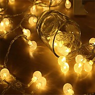 זול -קישוטים לחג לשנה החדשה / חג האהבה תאורת חג מולד / חפצים דקורטיביים אור LED רף צבע / לבן חם 1pc