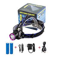 preiswerte Taschenlampen, Laternen & Lichter-U'King Stirnlampen Fahrradlicht LED LED Sender 2000 lm 3 Beleuchtungsmodus inklusive Batterien und Ladegeräten Zoomable-, einstellbarer Fokus, Kompakte Größe Camping / Wandern / Erkundungen, Für den