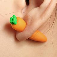 levne -Dámské Socha Oboustranné náušnice - Jednoduchý Šperky Oranžová Pro Ležérní Denní Street 1 Pair