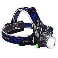 preiswerte Taschenlampen, Laternen & Lichter-Stirnlampen Fahrradlicht LED LED Sender 1600 lm 3 Beleuchtungsmodus inklusive Batterien und Ladegerät Zoomable-, Wasserfest, einstellbarer Fokus Camping / Wandern / Erkundungen, Für den täglichen