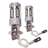 cheap -OTOLAMPARA 2pcs H7 / H4 / H3 Car Light Bulbs 80 W High Performance LED 2200 lm 16 LED Fog Lights For Volvo / Volkswagen S40 / C30 / Jetta All years