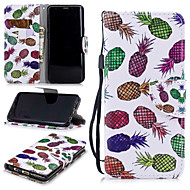 cheap -Case For Samsung Galaxy S9 Wallet / Card Holder / Shockproof Full Body Cases Fruit Hard PU Leather for S9