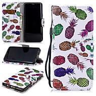 Недорогие Чехлы и кейсы для Galaxy S9-Кейс для Назначение SSamsung Galaxy S9 Кошелек / Бумажник для карт / Защита от удара Чехол Фрукты Твердый Кожа PU для S9