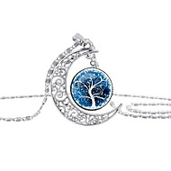 cheap -Women's Classic Pendant Necklace - Tree of Life Classic Cool Rainbow, Blue 42+5 cm Necklace Jewelry 1pc For Gift, Going out