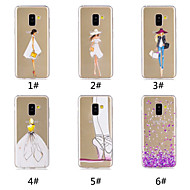 Case For Samsung Galaxy A8 Plus 2018 / A7(2018) Pattern Back Cover Heart / Sexy Lady Soft TPU for A6 (2018) / A6+ (2018) / A7(2018)