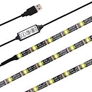 voordelige -ZDM® 2m Verlichtingssets / RGB-verlichtingsstrips 60 LEDs 5050 SMD RGB Knipbaar / USB / Geschikt voor voertuigen 5 V / Voeding Via USB 1 set