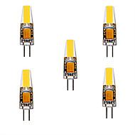 お買い得  -5個 3 W 200-300 lm G4 LED2本ピン電球 T 1 LEDビーズ COB かわいい 温白色 / クールホワイト 12 V