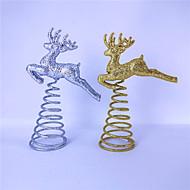 hesapli -Tatil Süslemeleri Noel Dekorayonu / Cadılar Bayramı Süslemeleri Noel Süsler Tatil Altın / Gümüş 1pc