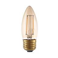 levne -GMY® 1ks 2 W 160 lm E26 / E27 LED žárovky s vláknem B10 2 LED korálky COB Ozdobné Jantarově žlutá 120 V