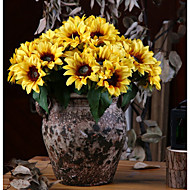 cheap -Artificial Flowers 6 Branch Classic Rustic / Pastoral Style Sunflowers Tabletop Flower