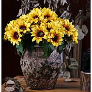 זול -פרחים מלאכותיים 6 ענף קלאסי כפרי / פסטורלי סגנון חמניות פרחים לשולחן