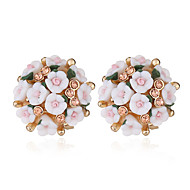 cheap -1 Pair Women's Tropical Stud Earrings - Imitation Diamond Romantic Jewelry Pink / Light Pink / Light Green For Wedding Date Holiday