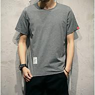 cheap -men's plus size t-shirt - solid colored round neck