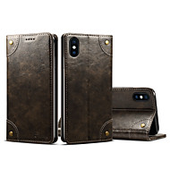 Etui Til Apple iPhone XS / iPhone XR / iPhone XS Max Lommebok / Kortholder / Støtsikker Heldekkende etui Ensfarget Hard PU Leather til iPhone XS / iPhone XR / iPhone XS Max