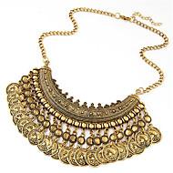 hesapli -Kadın's Madeni para Açıklama Kolye - Vintage, Avrupa, Moda Siyah, Gümüş, Bronz 40 cm Kolyeler Mücevher 1pc Uyumluluk Günlük, Kulüp