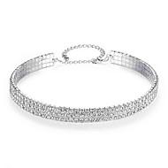 levne -Dámské Tenisový řetězec Tork - Umělé diamanty Evropský, Módní, Elegantní Stříbrná 15.748 inch Náhrdelníky Šperky 1ks Pro Svatební, Zásnuby