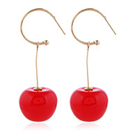 cheap -1 Pair Women's Fancy Drop Earrings - Cherry Statement Sweet Jewelry Red / Dark Red For Birthday Date Holiday