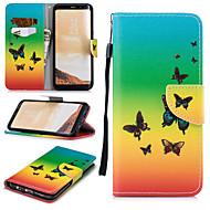 Недорогие Чехлы и кейсы для Galaxy S8-Кейс для Назначение SSamsung Galaxy S8 Кошелек / Бумажник для карт / Защита от удара Чехол Бабочка Твердый Кожа PU для S8